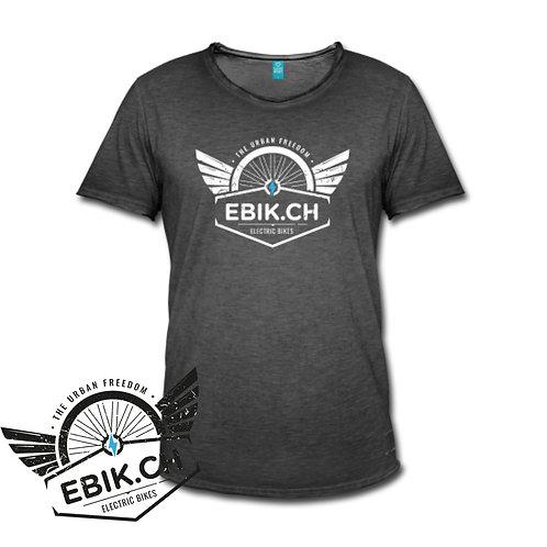 Ebik Tshirt Vintage Uomo in dark grey