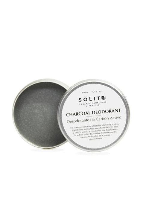 SOLITO Desodorante de Carbón Activado 50g