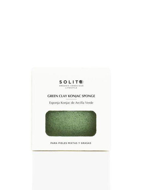 SOLITO Esponja de Konjac Arcilla Verde