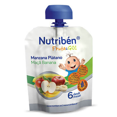 NUTRIBEN Fruta&Go! Manzana Plátano 90g