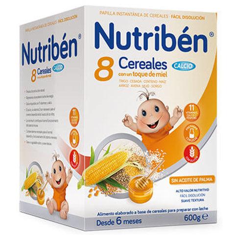 PAPILLA NUTRIBEN 8 Cereales con un toque de miel y Calcio 600g