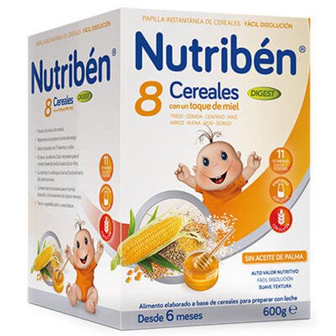 PAPILLA NUTRIBEN 8 Cereales con un toque de miel Digest 600g
