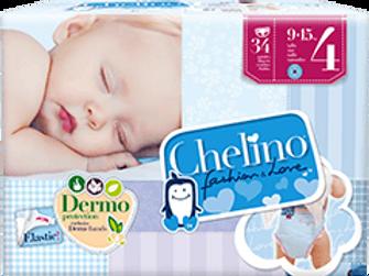 Chelino Fashion & Love T-4 (9-15 kg) 34 pañales