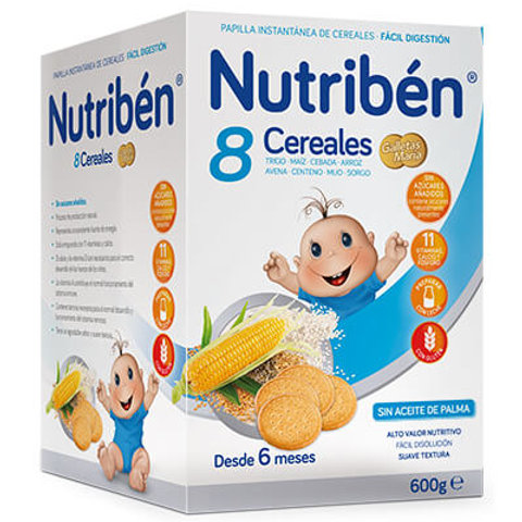 PAPILLA NUTRIBEN 8 Cereales con galleta María 600g