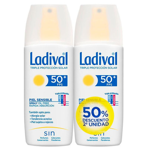 LADIVAL DÚO Piel Sensible SPF50+ 2*150mL