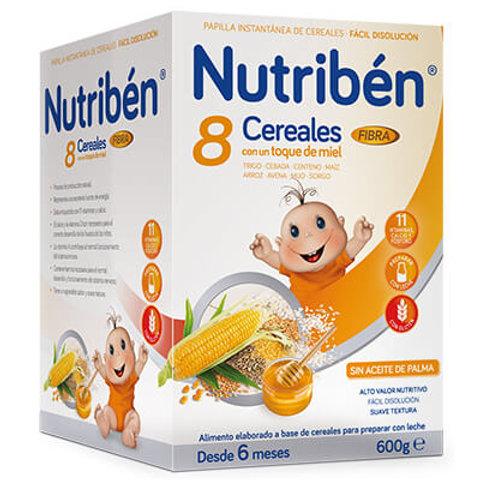 PAPILLA NUTRIBEN 8 Cereales con un toque de miel Fibra 600g
