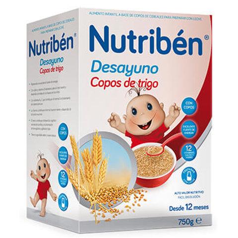 PAPILLA NUTRIBEN Desayuno Copos de trigo 750g