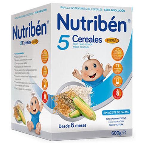 PAPILLA NUTRIBEN 5 Cereales con fibra 600g