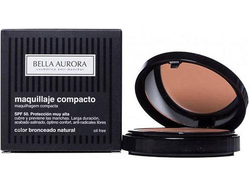 BELLA AURORA maquillaje compacto SPF50 bronceado natural oil free