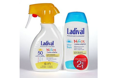 LADIVAL PACK NIÑOS Spray SPF50 200mL + After Sun 200mL