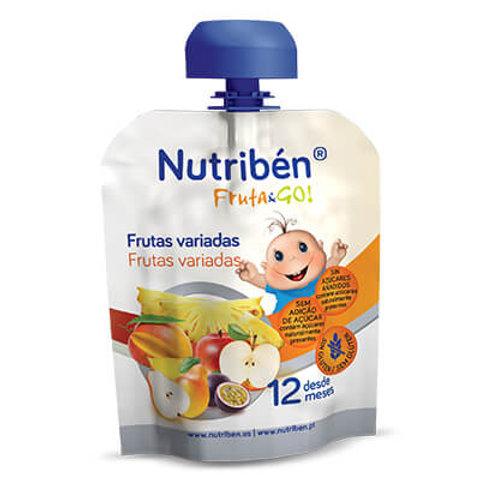 NUTRIBEN Fruta&Go! Frutas Variadas 90g