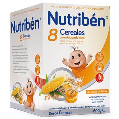 PAPILLA NUTRIBEN 8 Cereales con un toque de miel 600g