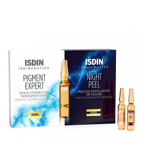 ISDINCEUTICS PACK PIGMENT EXPERT+NIGHT PEEL 10+10 ampollas