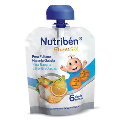 NUTRIBEN Fruta&Go! Pera Plátano Naranja Galleta 90g