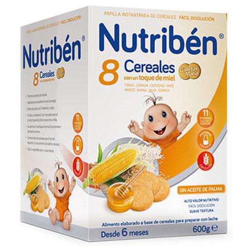 PAPILLA NUTRIBEN 8 Cereales con un toque de miel Galletas María 600g
