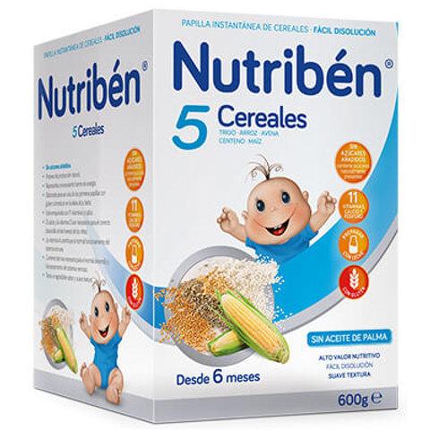 PAPILLA NUTRIBEN 5 Cereales 600g