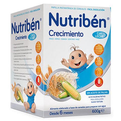 PAPILLA NUTRIBEN Crecimiento con leche adaptada 600g