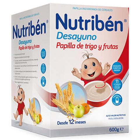 PAPILLA NUTRIBEN Desayuno Trigo y frutas 750g