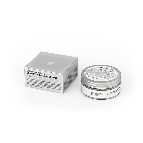 Crema exfoliante facial cáscara de nuez y manteca de Karité80mL Botanicapharma