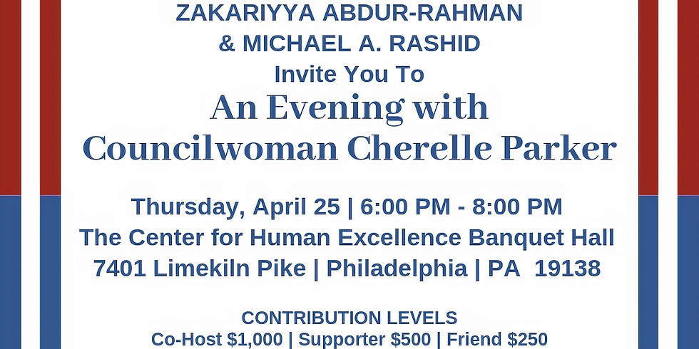 An Evening with Councilwoman Cherelle Parker