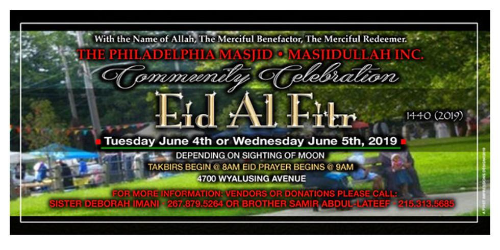 Eidul-Fitr at Philadelphia Masjid
