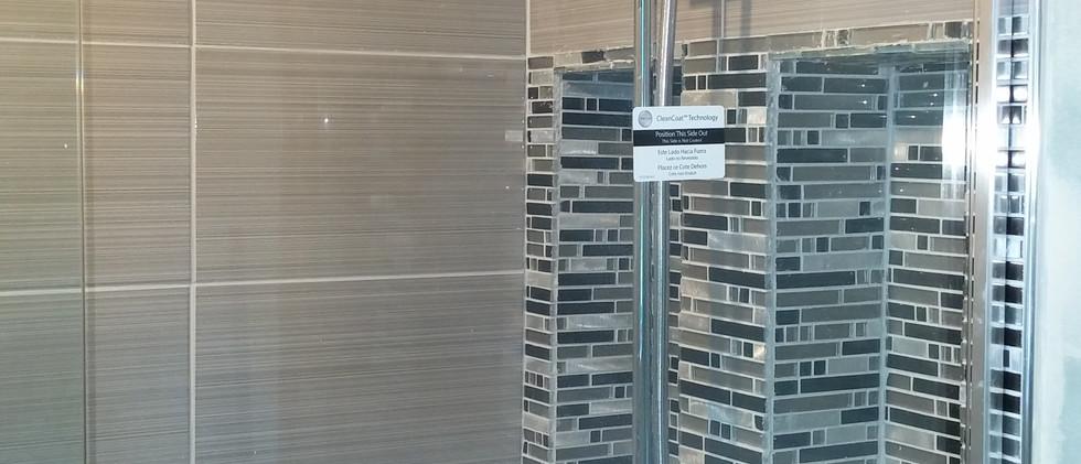 Bathroom Tile with Glass Door