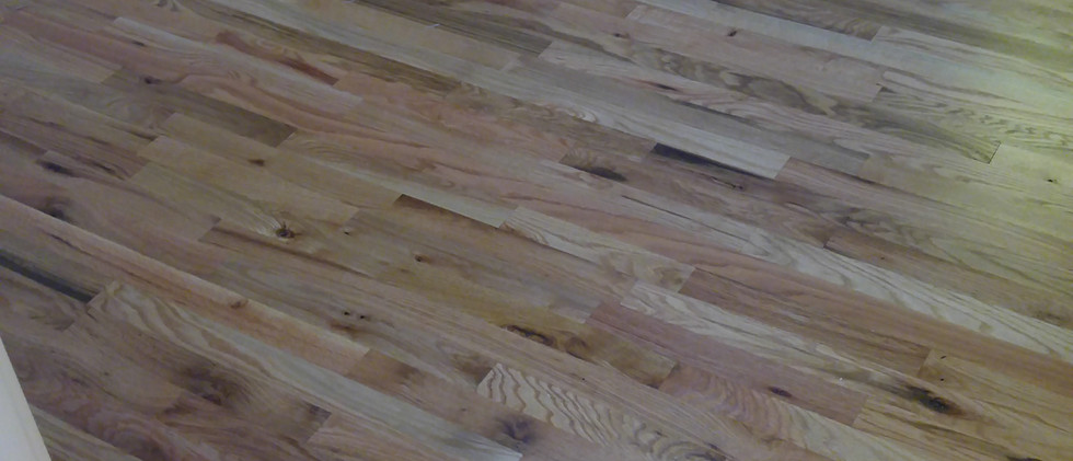 Sanded and Poly Oak Floors