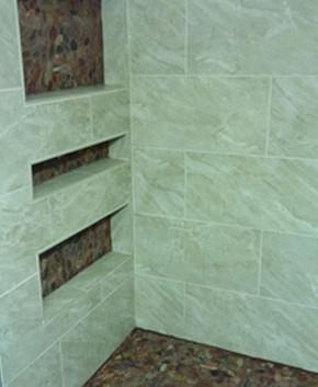 Custom Shelves in Shower