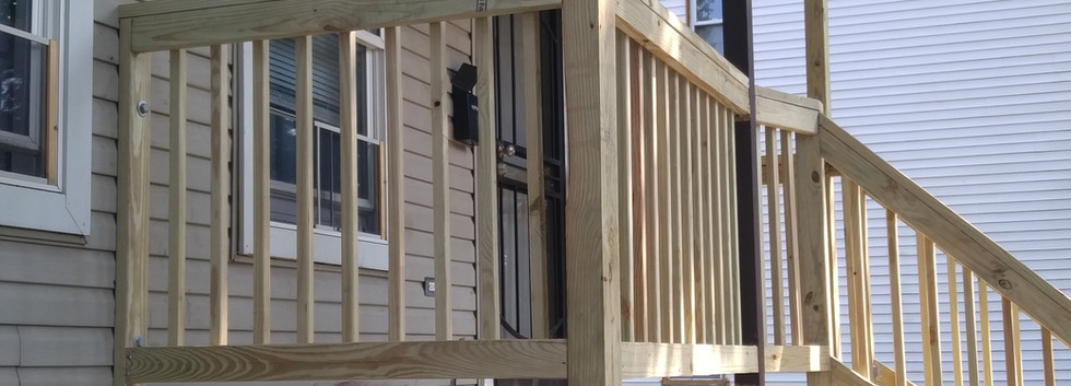 Newly Built Front Deck