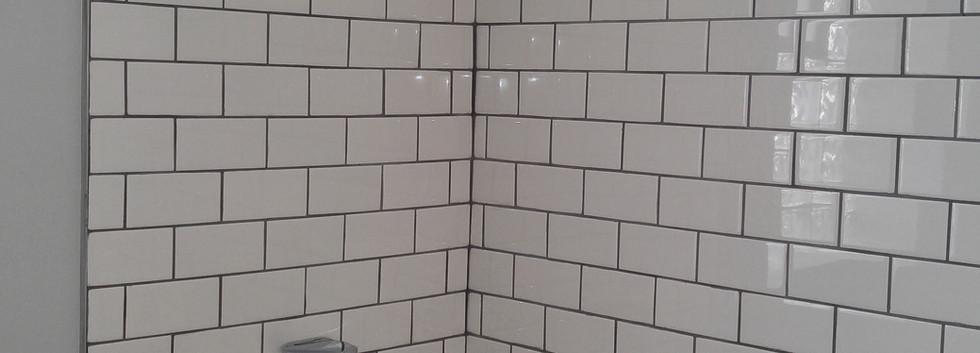 Short Subway Tile in Bathroom