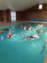 thérapie en piscine eau chaude