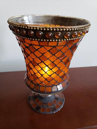 Amber Mosaic Vase Partylite