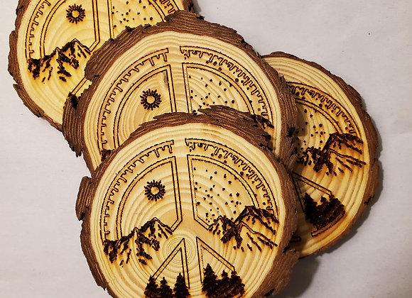 Rustic Peace/Earth Coasters