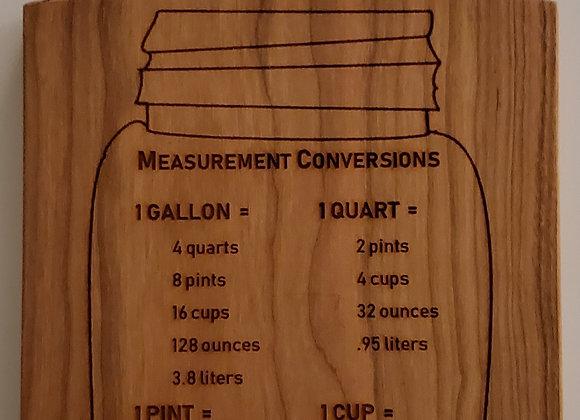 Conversion Chart Paddle Board