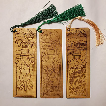 Wooden Tasseled Book Marks
