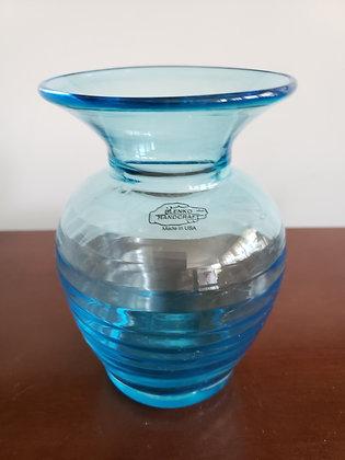 Blue Blenko Vase