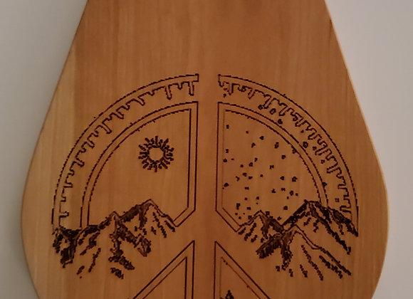 Teardrop Peace Kitchen Board