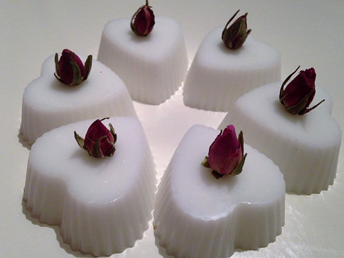 Wedding soap favours - scalloped hearts