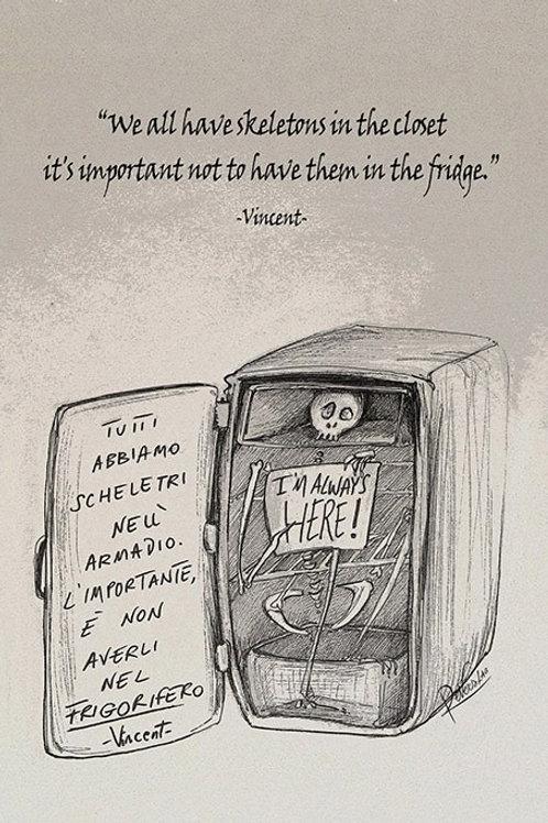 Skeleton in the fridge