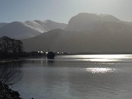 Ben Nevis from Corpach basin