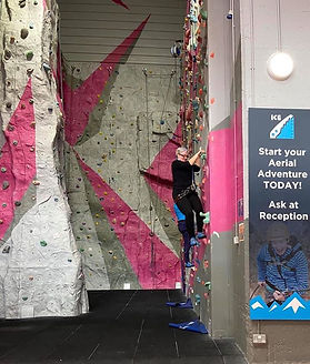 Climbing at the Ice Factor