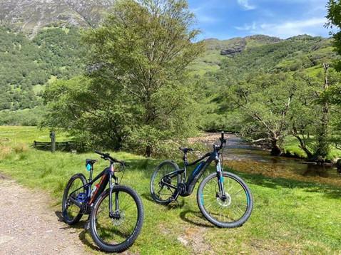 Cycling in Glen Nevis