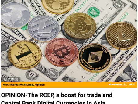 RCEP to boost trade and Central Bank Digital Currencies in Asia