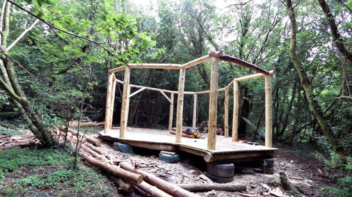 whittlers wood roundhouse build part 3,