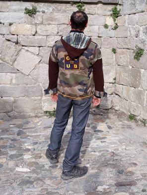 Veste camouflage, velours marron