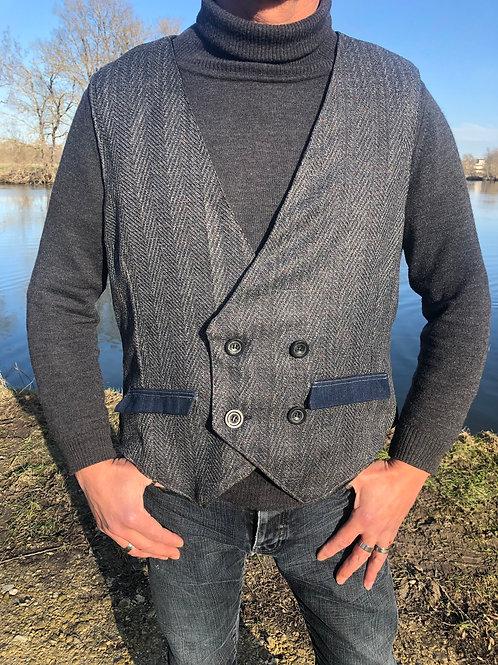 Gilet homme Vest hipster Upcycled L