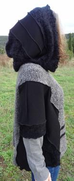 Pull gris et noir