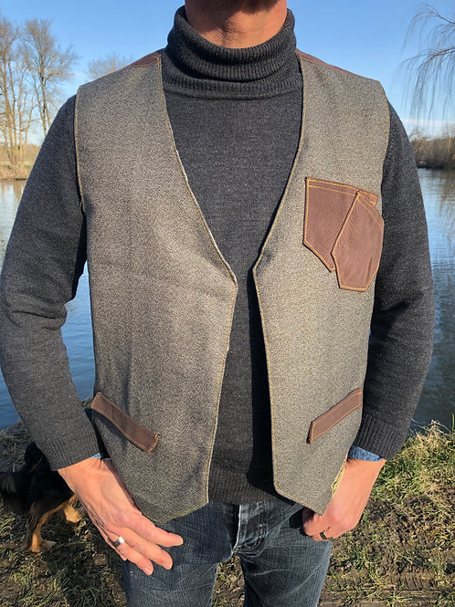 Gilet homme Vest hipster Upcycled M