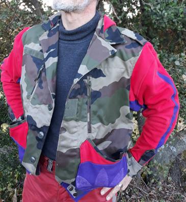 Veste camouflage sweetviolet et rouge
