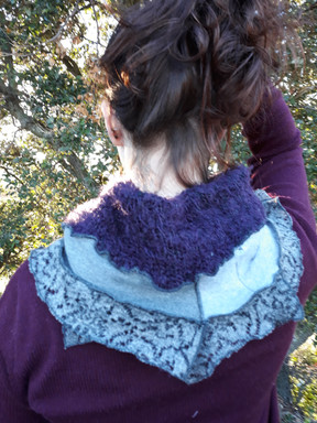 Snood gris et violet